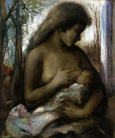 Maternité Guy Cambier, 1959 Huile sur toile Collection privée