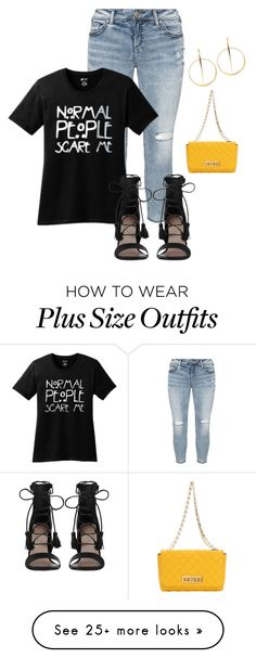 """""""Plus size simple movie date lk"""" by kristie-payne on Polyvore featuring Silver Jeans Co., Zimmermann, Michael Kors and Lana"""