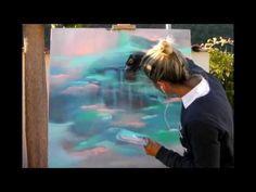 Cours de peinture facile abstraite acrylique vidéo HD YouTube shadingart - YouTube