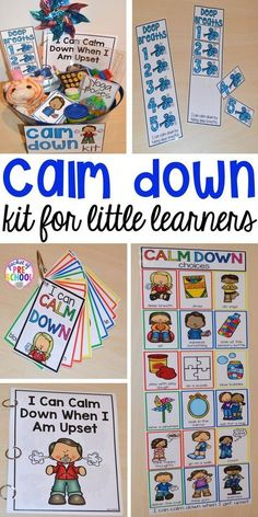 Calm Down Techniques will help you teach your students strategies to calm down when they are upset. It includes a class read aloud calm down posters calm down cards yoga cards deep breaths visual book list positive notes and more! Toddler Activities, Preschool Activities, Calming Activities, Preschool Themes By Month, Preschool Classroom Centers, Circle Time Ideas For Preschool, Aba Therapy Activities, Writing Center Preschool, Kindergarten Classroom Organization