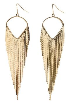 Vegas gold dangling earrings