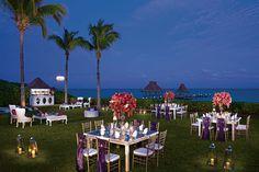 A garden reception has the perfect ocean views #ZoetryParaisodelaBonitaRivieraMaya #Mexico #DestinationWedding