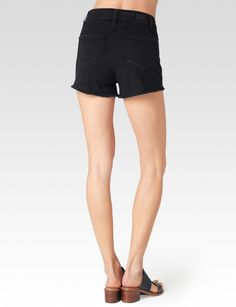The Margot short was designed from our fashion high rise Margot skinny and washed down to our classic Vintage Black. Front Rise: 11 7/8; Inseam: 2 3/4'; Leg Opening: 24'; 9.7 oz Fabric; 98% Cotton, 2% Elastane #Paige #Shorts #Vintage Black