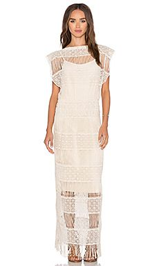 af769149c25a Callahan Crochet Maxi Dress in Cream Ladies Dress Design