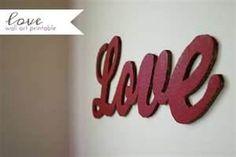 love mdf wall art