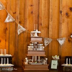 Wedding Cake Pop Stand .. rustic!