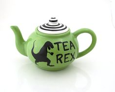 Dinosaur T-Rex tepot, tea-rex handmade tea pot large ceramic    Rawr means its time for a cuppa! Dinosaur and pun lovers will enjoy serving their
