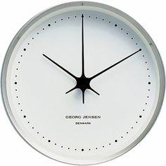 Georg Jensen Henning Koppel Clock 22cm Steel/White