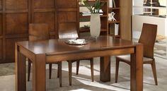 Tavolo fisso con piano in legno art. 22004