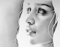Emilia Clarke as Daenerys Targaryen Fine Art Pencil Drawing Portrait Signed Print
