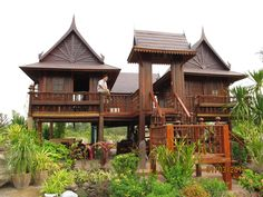 Traditional Thai House - my sister & brother-in-law house in Pakchong, Thailand...