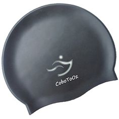 Swim Caps for Men and Women Swimmers By CoboToOz - Cool Eco-Friendly Black Silicone Waterproof Swimming Cap - Keep Hair Dry When Bathing - Protection From the Sun and Chlorine - Strong Tear Resistant and Comfortable Fit - Fully Guaranteed by CoboToOz