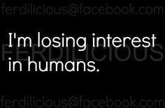 no more humans please