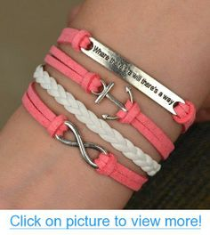 Infinity Anchor Antique Silver Friendship Velvet Leather Cute Bracelet #Infinity #Anchor #Antique #Silver #Friendship #Velvet #Leather #Cute #Bracelet