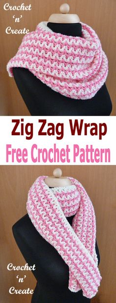 Crochet zig-zag wrap, great for those cool evenings, FREE pattern. Crochet zig-zag wrap, great for cool evenings, an easy and pretty pattern made in a mini V stitch design and just two colors. I have used a large . Crochet Zig Zag, Tunisian Crochet, Crochet Shawl, Free Crochet, Knit Crochet, Crochet Scarf Easy, Crochet Scarves, Crochet Clothes, Little Mac