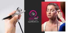 Supriti Batra a professional makeup artist in Delhi expertise in Airbrush makeup. She dealing skillfulness with this modern makeup technique and provides you with the smoothest layering to cover all the flaws.