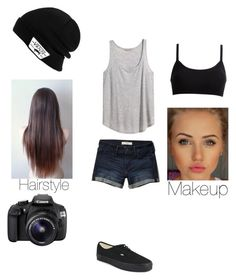 """Picture it"" by phonemephotography13 ❤ liked on Polyvore featuring H&M, Abercrombie & Fitch, Vans and Eos"