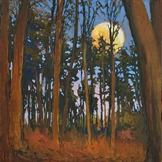 Forest Moon by Jan Schmuckal Oil ~ 8 x 8