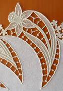 Machine embroidery lace.