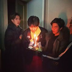 Grow healthier and funnier. Baekhyun, Park Chanyeol, Chanyeol Birthday, Exo Birthdays, Exo Korean, 23 November, K Pop Star, Exo Members, Birthday Photos