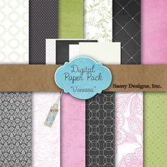 Vanessa Digital Paper Pack