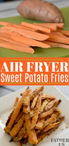 This easy recipe for Air Fryer Sweet Potato Fries is so much more healthy than the deep fried version. It also tastes so much better than frozen fries you buy at the store. I lightly coat them with Pa Air Fryer Sweet Potato Fries, Frozen Sweet Potato Fries, Making Sweet Potato Fries, Freeze Sweet Potatoes, Air Fry Recipes, Air Fryer Dinner Recipes, Air Fryer Recipes Easy, Ninja Recipes, Cooking Recipes