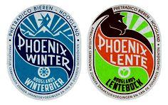 phoenix beer label design 2013 #bock #lentebock #winterbier Amersfoort