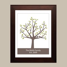Personalized Family Tree  8x10  Green & Brown by CreativeWildChild, $24.00