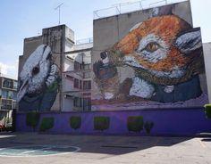 artist: @potentedifuoco #mexicocity #mexico #streetart #streetartchilango #streetartmexico #urbanart #ericalane #wallmural #murales #muralesart #art #graffiti #graffitiart #graffitiporn #graffitimexico #instagraffiti #travel #travelphotography #rabbit #fox by caro.strick