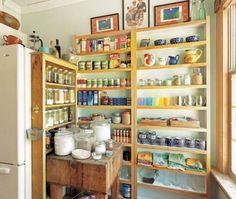 5 New Ideas for Salvaged Kitchen Shelves   #kitchen