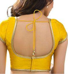 c096869e032556 Back Hooks U-Shape Blouse Long Blouse, Sleeveless Blouse, Blouse Neck  Designs,