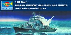 USSR Navy Sovremenny Class Project 956 E Destroyer Trumpeter 04515
