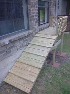 Excellent Ramp From The Deck To The Patio Brilliant