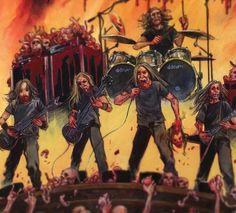 Cannibal Corpse, Alternative Music, Death Metal, Music Stuff, Hard Rock, Comic Books, Comics, Black, Art