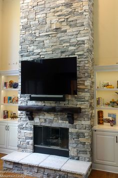 9 Best Stone Veneer Fireplace Ideas Mountain Ledge Stone