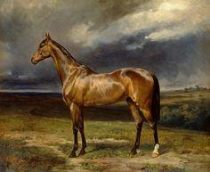 Bild:  Carl Constantin Steffeck - 'Abdul Medschid' the chestnut arab horse
