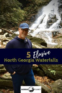 A day trip adventure reveals five incredibly beautiful, yet elusive North Georgia waterfalls worthy of your mountain getaway or weekend road trip itinerary. #travel #TBIN #Georgia #waterfalls #roadtrip via @backroadplanet