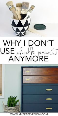Vintage Furniture 3 reasons I don't use chalk paint to paint furniture anymore Refurbished Furniture, Repurposed Furniture, Shabby Chic Furniture, Rustic Furniture, Furniture Makeover, Vintage Furniture, Diy Furniture, Furniture Stores, Furniture Design