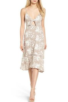 ASTR Embroidered Tie Front Dress   - The 11 Dresses We Have Our Eye On Now That Spring is On Its Way