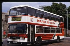 Midland Red South Leyland Olympian B961 ODU original Bus Slide | eBay MIDLAND RED HUNG DRAWN AND QUARTERED Blue Bus, Red Bus, Manchester Buses, Double Deck, Bus Coach, Busses, Olympians, Transportation, Coaching