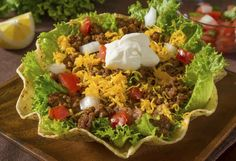 Someone having the audacity to call this a taco salad.