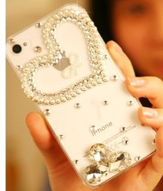 Fashion Bling Phone Case for iPhone 4 4S Love Heart