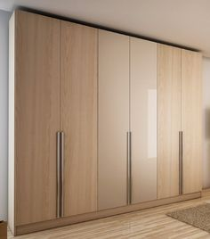 Amazon.com - Manhattan Comfort Downtown 6-Door Wardrobe, Oak Vanilla and Nude - Bedroom Armoires