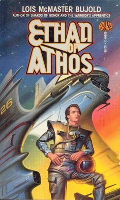 Vorkosigan Saga When a mysterious genetic crisis threatens the existence of Athos, a planet forbidden to women, obstetrician Ethan Urquhart is forced into an alliance with Elli Quinn, a gorgeous female secret agent, to save his world. Vorkosigan Saga, Lois Mcmaster Bujold, Classic Sci Fi Books, Science Fiction Books, Fantasy Books, Sci Fi Art, Book Art, Literature, Novels
