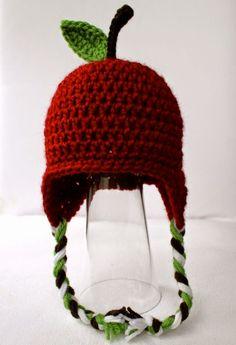 Crochet Apple Hat Pattern