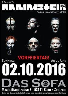 Rammstein Party - Vorfeiertag!
