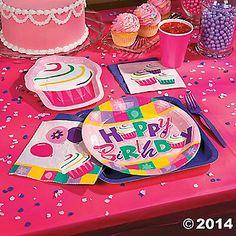 Birthday Cupcake Party Supplies