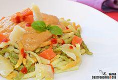 Spätzle con salsa cremosa de papaya