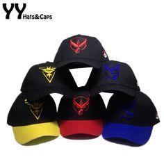 Pokemon Go Cap Adjustable Hat Team Instinct Mystic Valor Logo Pokemon Hats Gorra Pokemon Go Team Baseball Cap hat 6 style Y60538