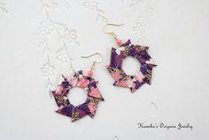 Origami Jewelry  Japanese Origami Wreath by KumikosOrigami on Etsy